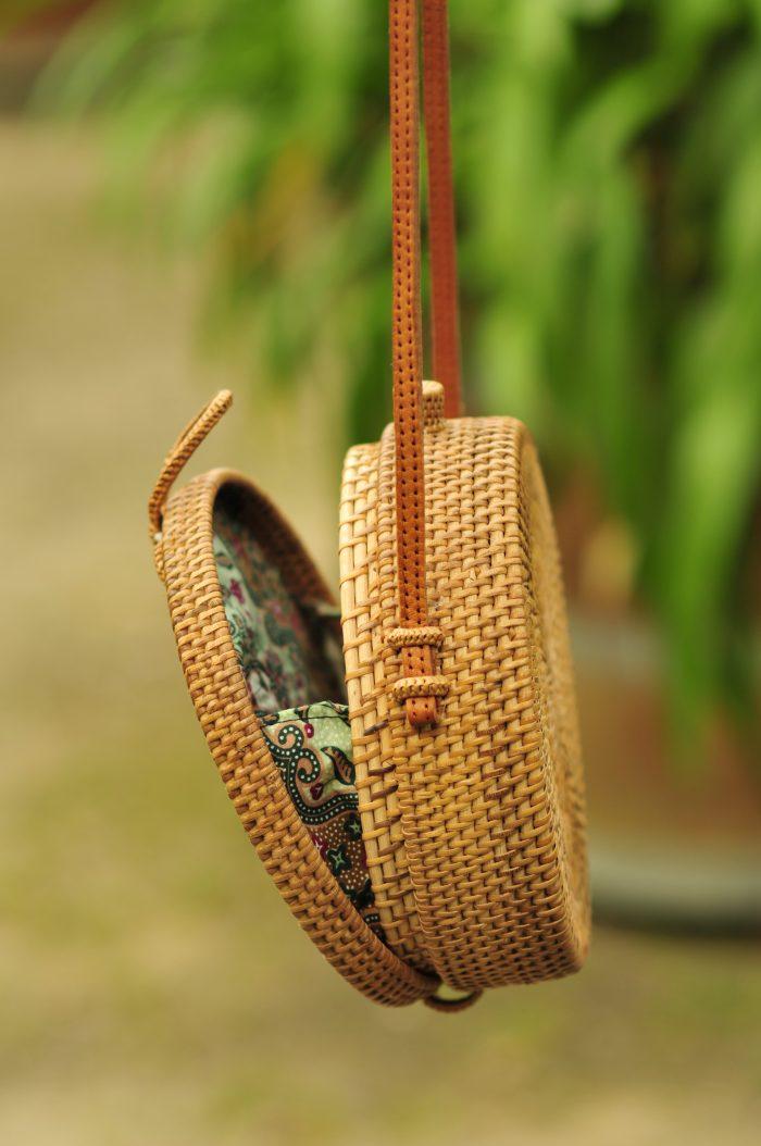 Details Classic Pattern Basket Bag, Bali bag, Rattan bag, Bali