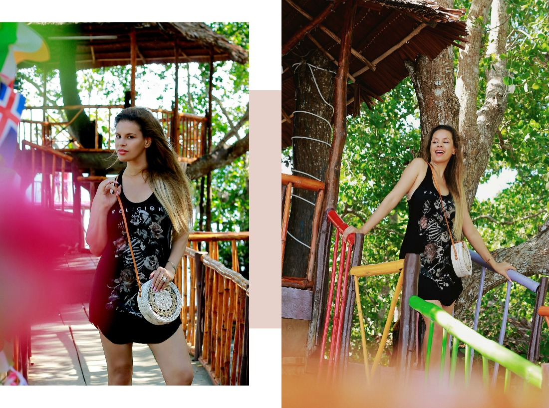 Tamara Chloé. Religion UK Dress, Kei islands, Indonesia,White Round Bali Bag, Maluku,