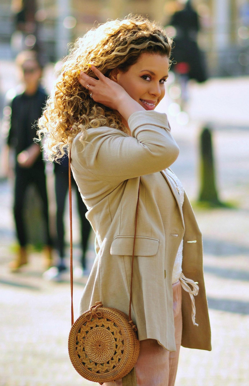 My Go-To Outfit For Spring, Tamara Chloé, Safari blazer, Bali bag7+3
