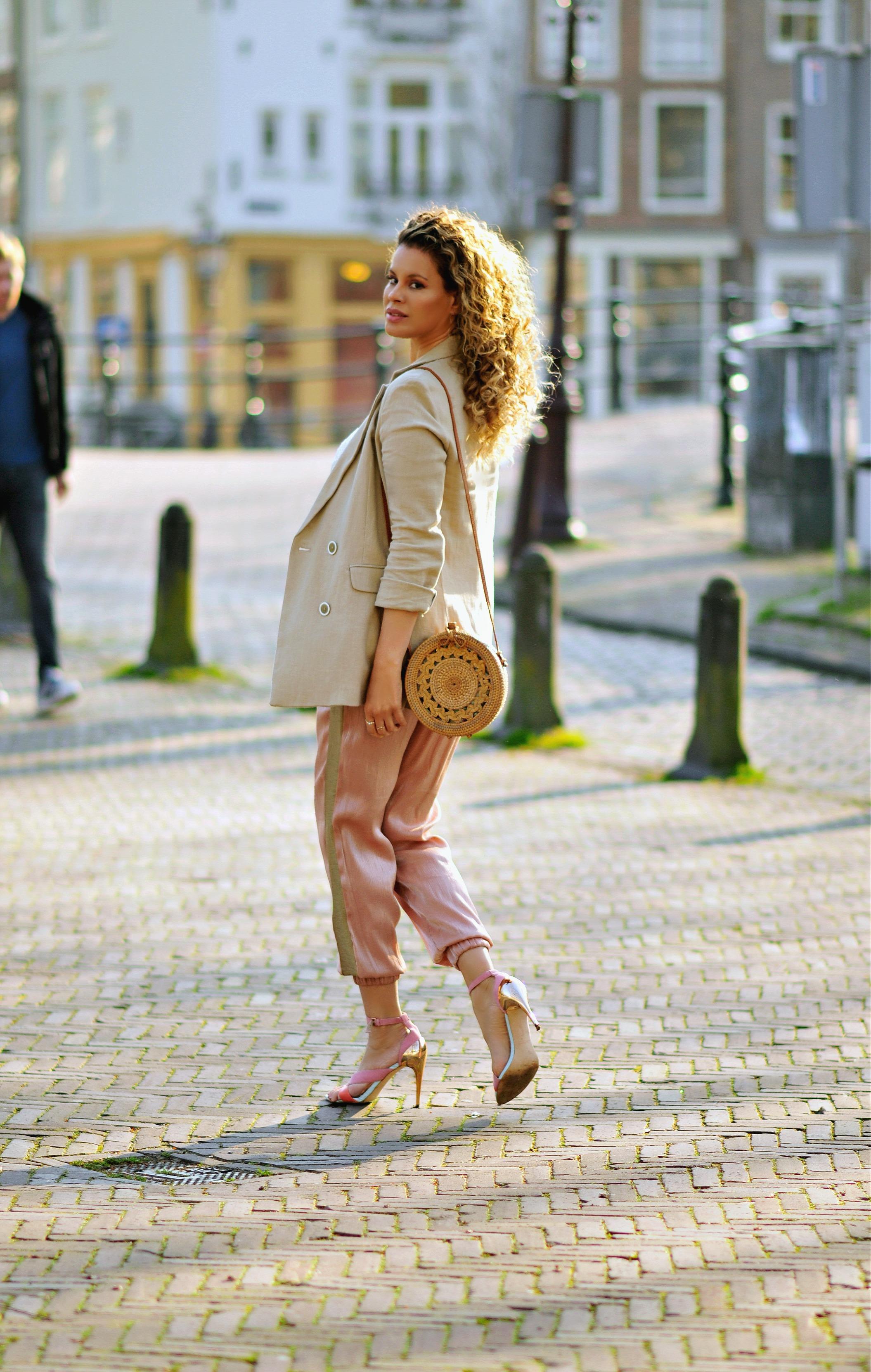 My Go-To Outfit For Spring, Tamara Chloé, Safari blazer, Bali bag9+2