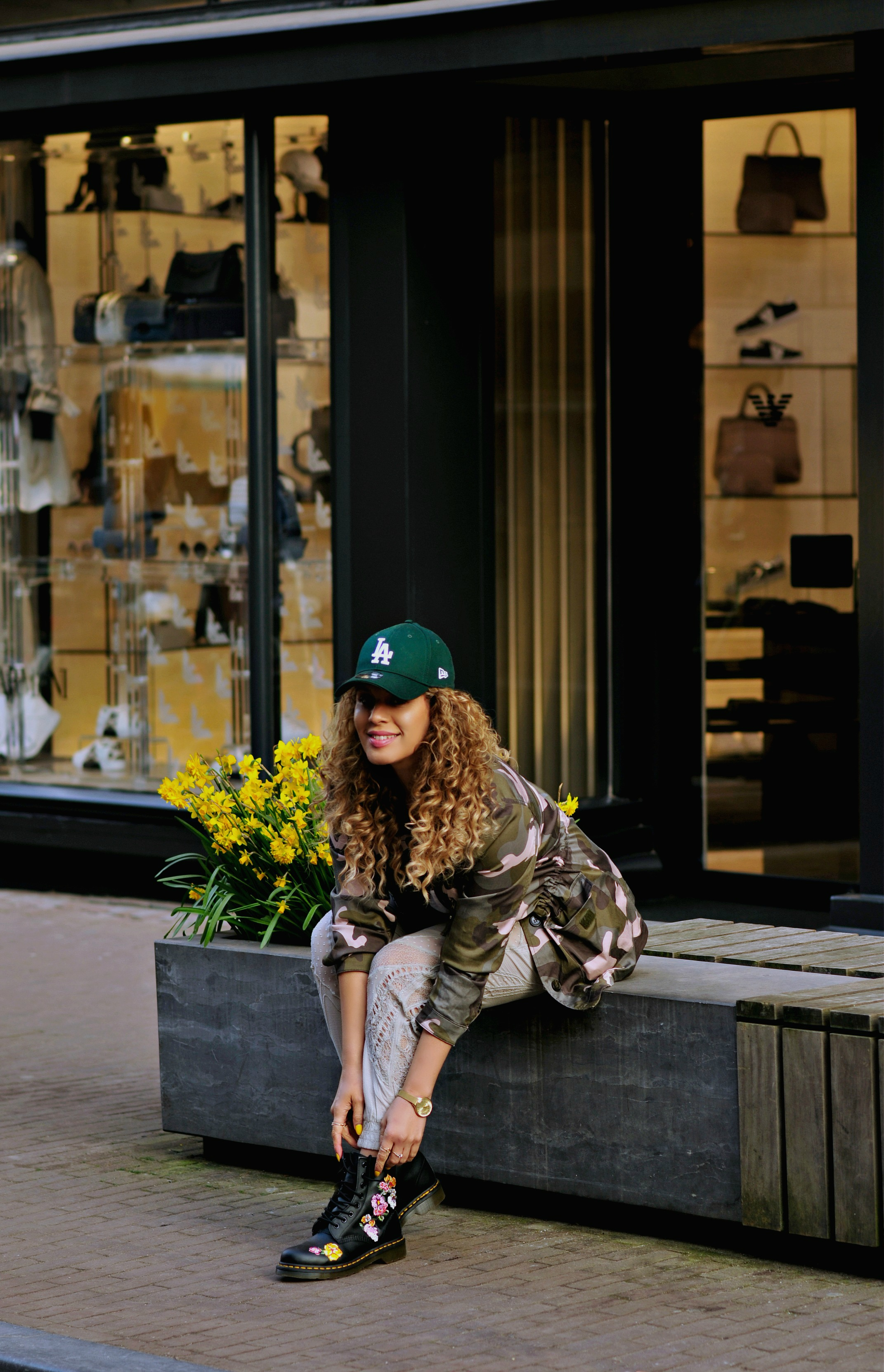 15 ways To Play tourist In Your Hometown, Tamara Chloé, Floral Dr Martens, Amsterdam