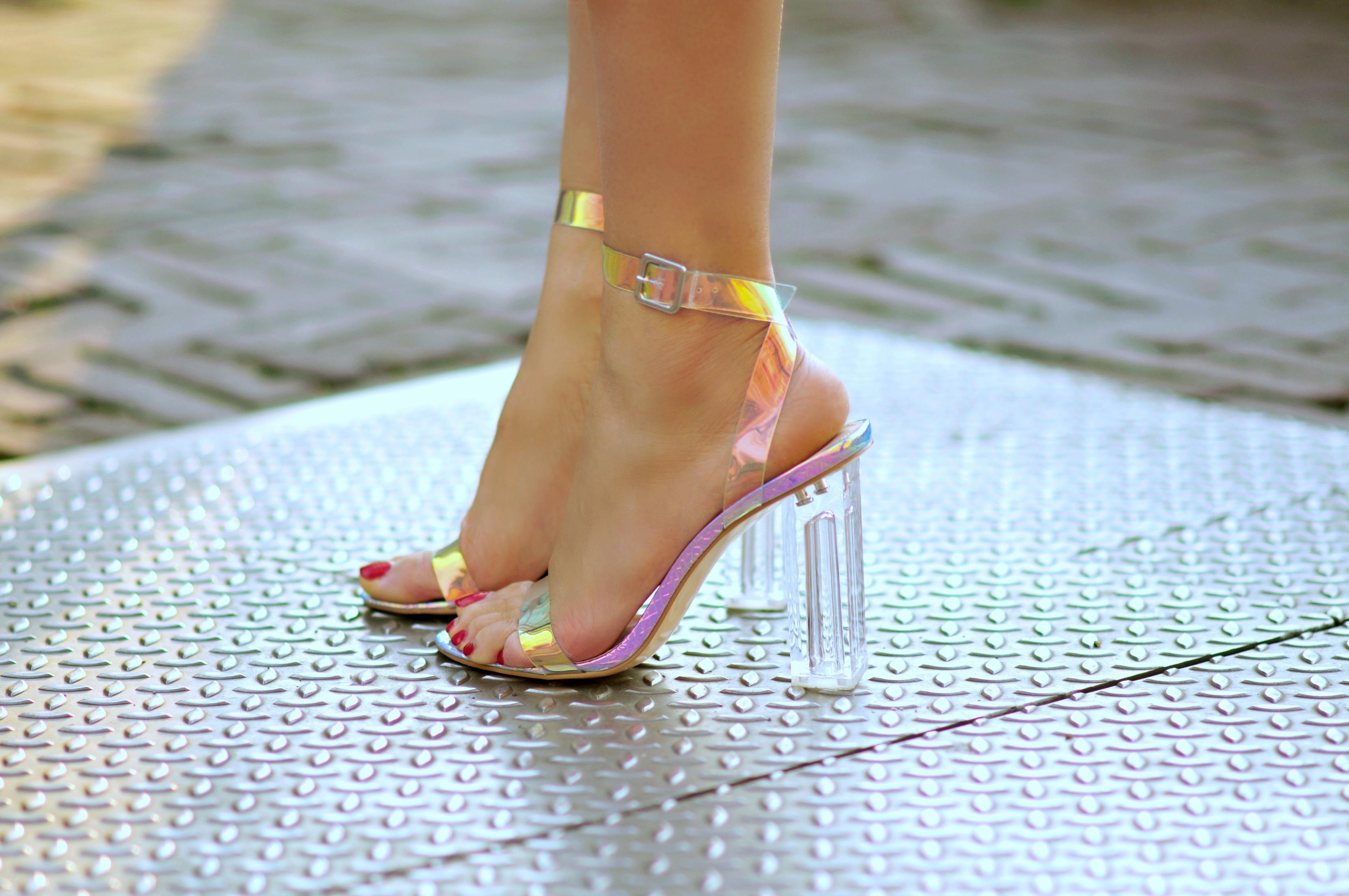 Clear High Heels
