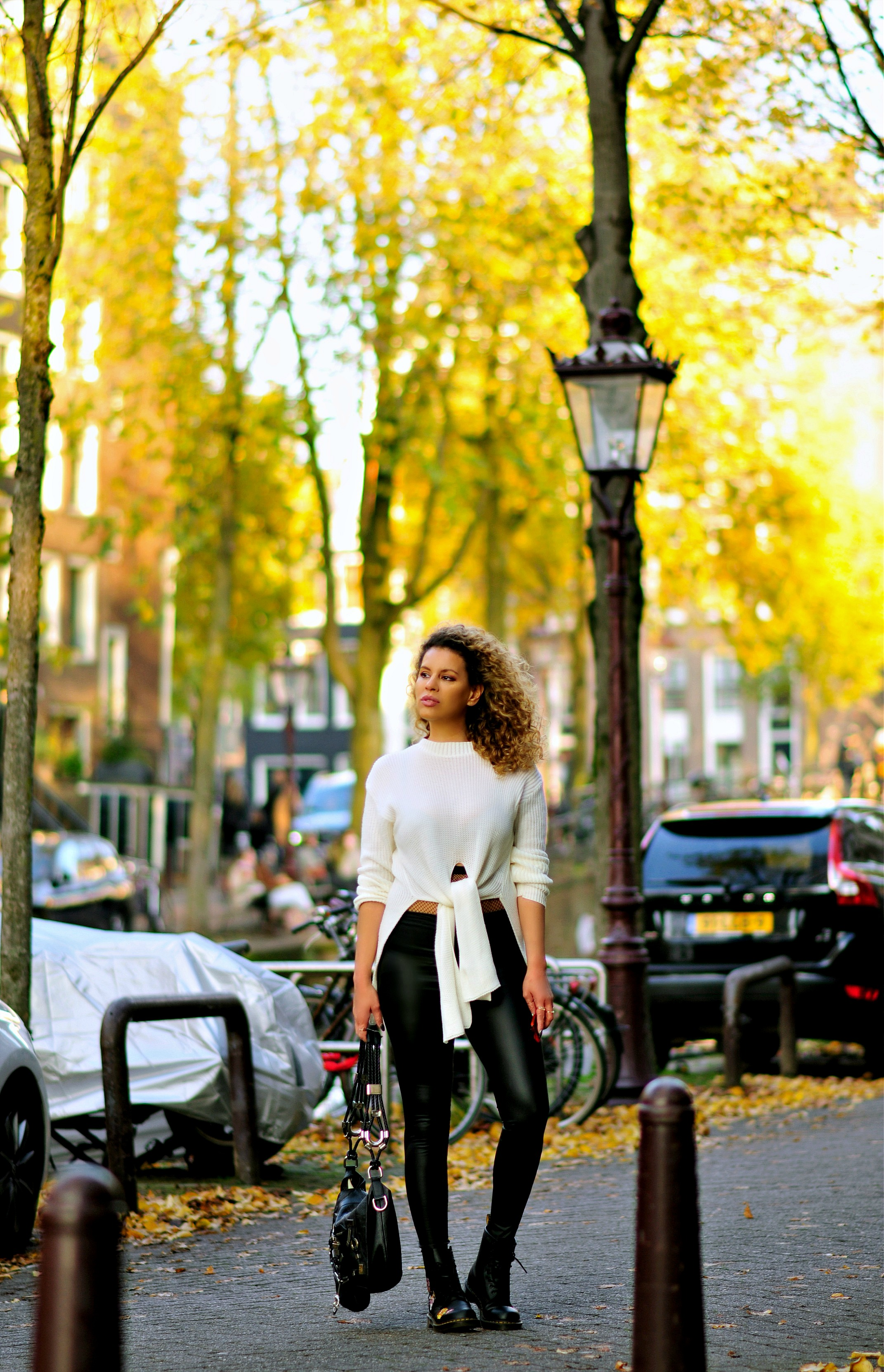 How I score High Fashion At A Low Budget, Femme Luxe Finery, Tamara Chloé, Gucci bag, Floral Dr Martens, Amsterdam Street Style