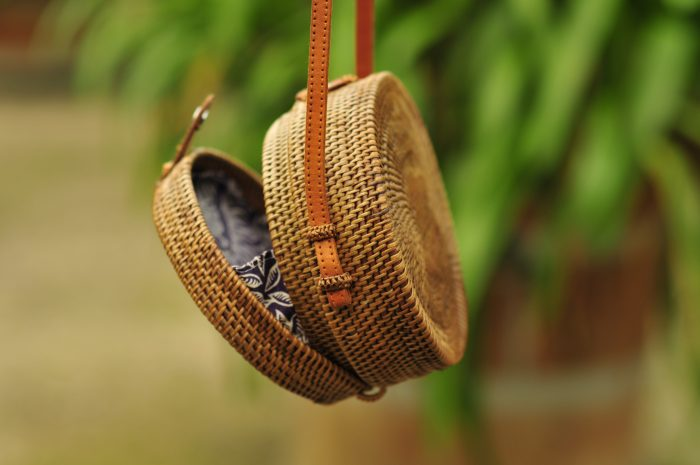 Oval Bali bag, Rattan nag
