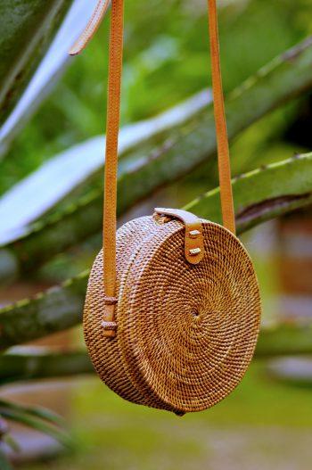 Classic Round basket bag, Bali bag, Rattan bag