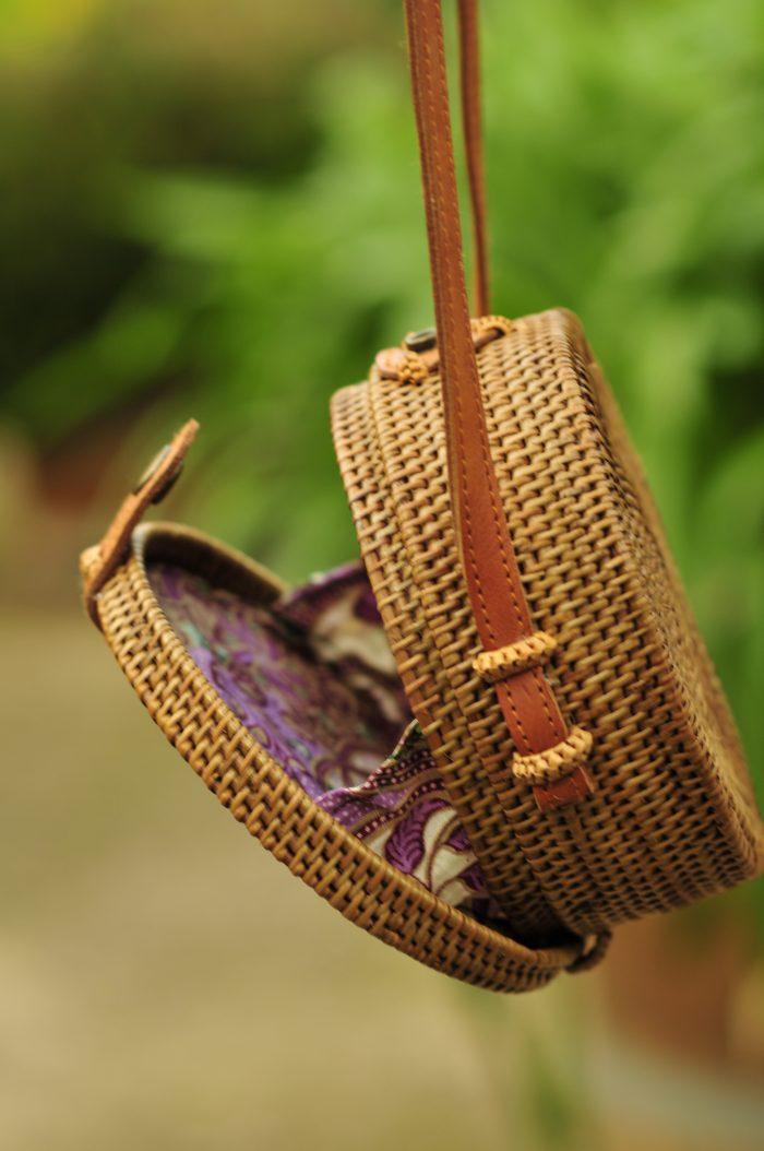 Small sized Bali bag, rattan bag, Bali bag